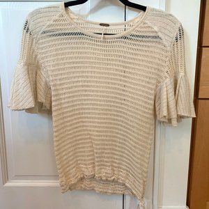 Free People Babes Only Open Weave Knit Flutter- XS